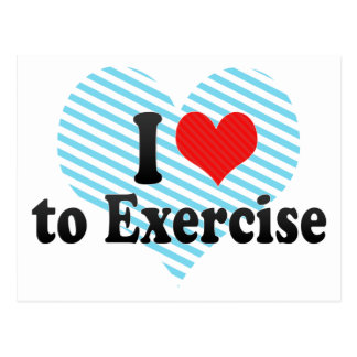 I Love to Exercise Postcard