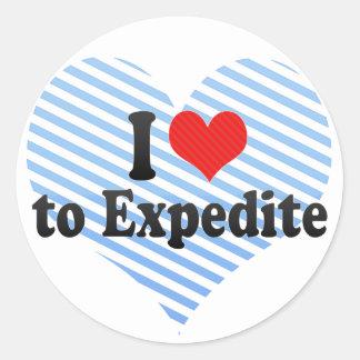 I Love to Expedite Classic Round Sticker