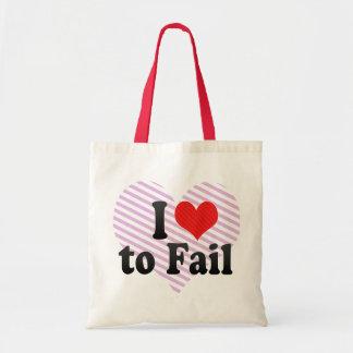 I Love to Fail Canvas Bag