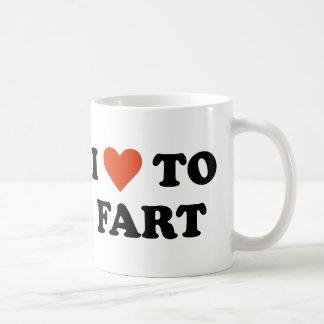I Love To Fart Classic White Coffee Mug
