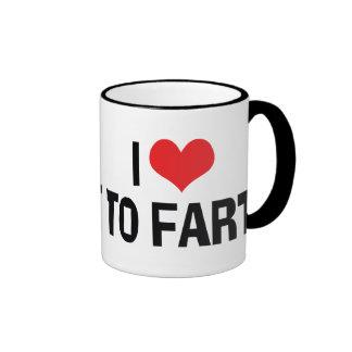 I Love To Fart Ringer Coffee Mug