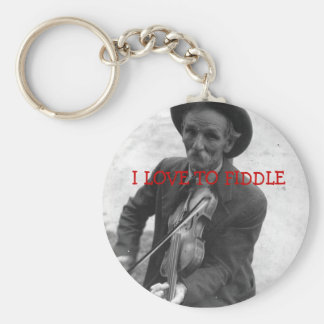 """""""I LOVE TO FIDDLE"""" KEYCHAIN"""
