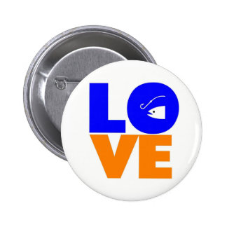 I love to fish pin