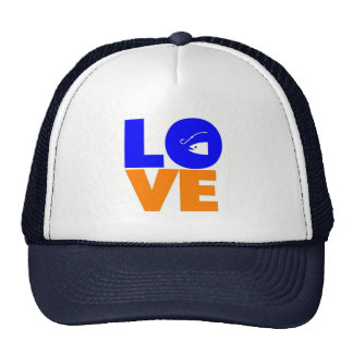 I love to fish trucker hat