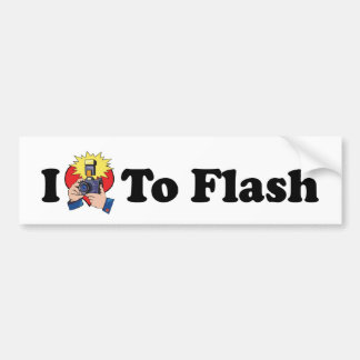 I Love To Flash - Photography Lover Bumper Sticker