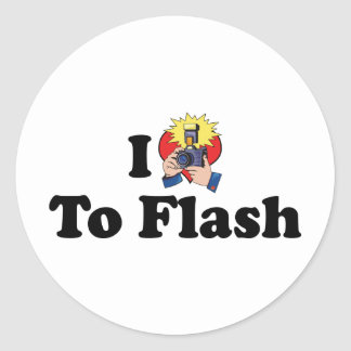 I Love To Flash - Photography Lover Classic Round Sticker
