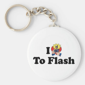 I Love To Flash - Photography Lover Keychain