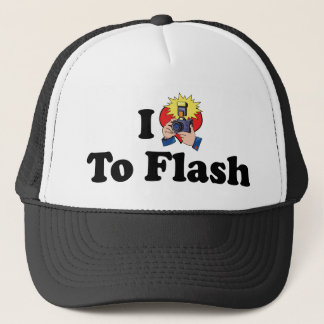 I Love To Flash - Photography Lover Trucker Hat