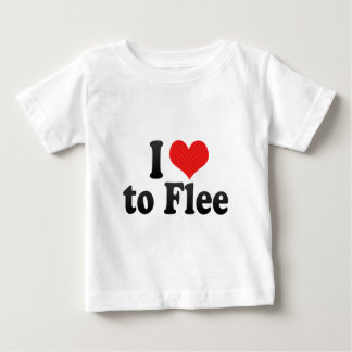 I Love to Flee Tee Shirts