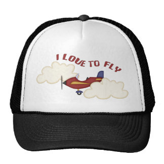 I Love to Fly Trucker Hat
