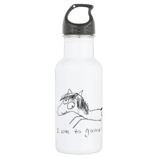 I Love to Gallop Stainless Steel Water Bottle