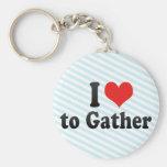I Love to Gather Keychain