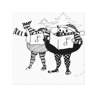 I LOVE to Go Christmas Caroling Canvas Print