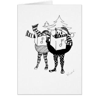 I LOVE to Go Christmas Caroling Card