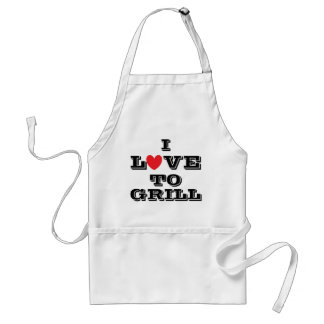 I Love To Grill Adult Apron