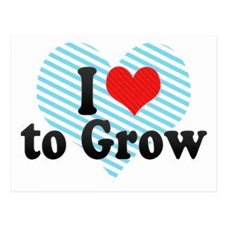 I Love to Grow Postcard