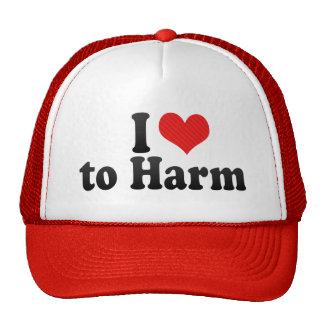 I Love to Harm Mesh Hat