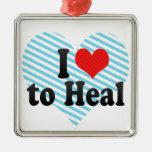 I Love to Heal Christmas Ornament