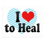 I Love to Heal Post Cards