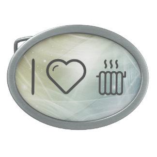 I Love To Heats Oval Belt Buckle