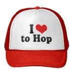 I Love to Hop Mesh Hats