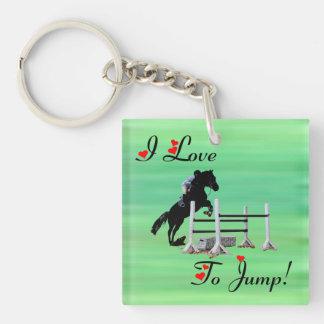 I Love To Jump Equestrian Jumper Keychain
