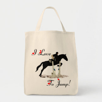 I Love To Jump Equestrian Tote Bag