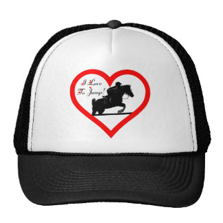 I Love To Jump! Heart with Horse Trucker Hat