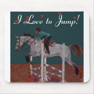 I Love to Jump! Horse Mouse Pad