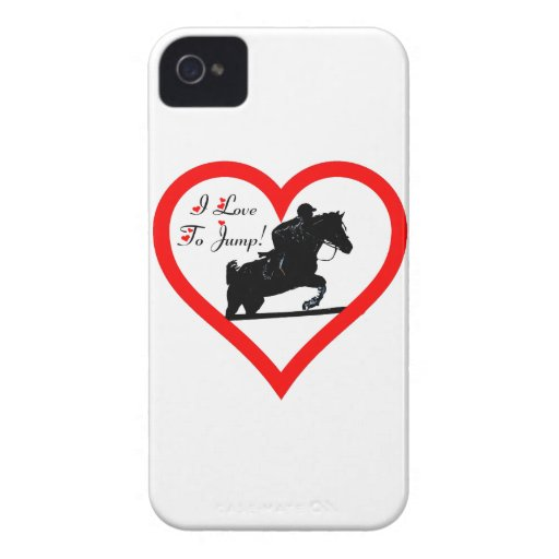 I Love To Jump! iPhone 4/4S Barely There Case Mate Case-Mate iPhone 4 Case