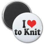 I Love to Knit Fridge Magnet