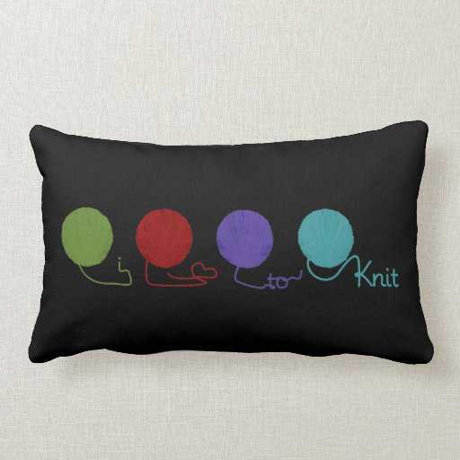 I Love to Knit Pillow