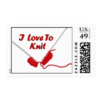 I Love To Knit Stamps