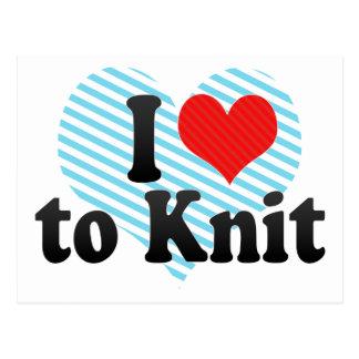 I Love to Knit Postcard