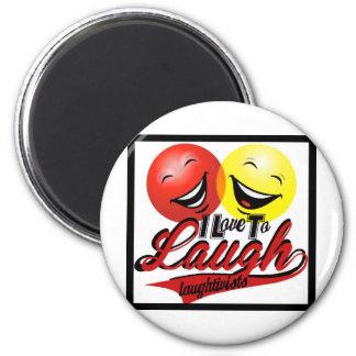 I love to laugh designs refrigerator magnet
