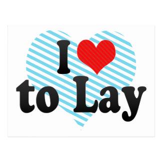 I Love to Lay Postcard