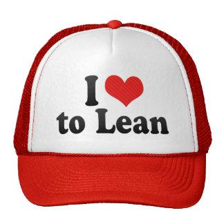 I Love to Lean Trucker Hat
