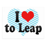 I Love to Leap Postcard