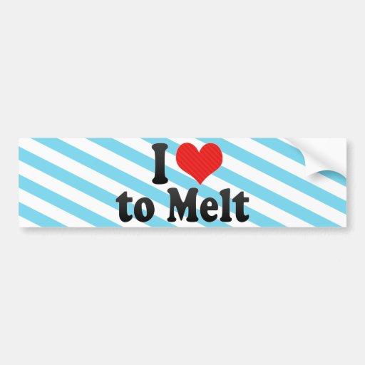I Love to Melt Bumper Stickers