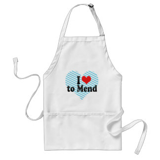 I Love to Mend Adult Apron