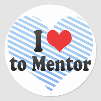I Love to Mentor Classic Round Sticker