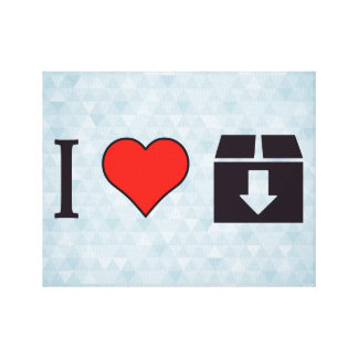 I Love To Move Out Canvas Print