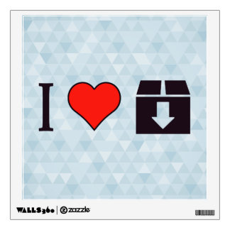 I Love To Move Out Wall Sticker