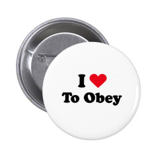 I love to obey pin