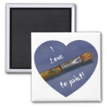I LOVE TO PAINT LOGO 2 INCH SQUARE MAGNET