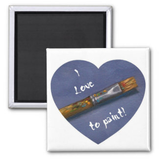 I LOVE TO PAINT LOGO MAGNET
