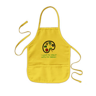 I LOVE TO PAINTWITH MY DADDY KIDS' APRON