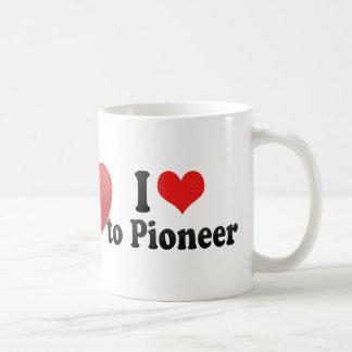 I Love to Pioneer Classic White Coffee Mug