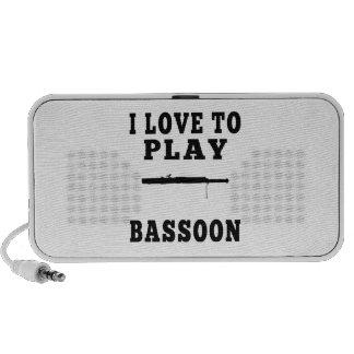 I Love To Play Bassoon Mp3 Speaker