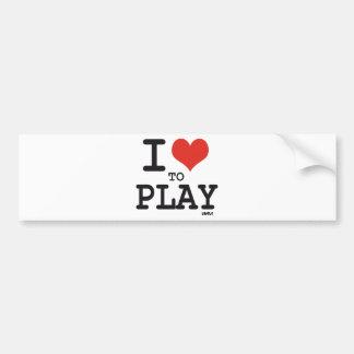 I love to play car bumper sticker
